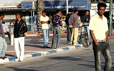 Illustrative photo of street scene in south Tel Aviv (photo credit: Nicky Kelvin/Flash90)