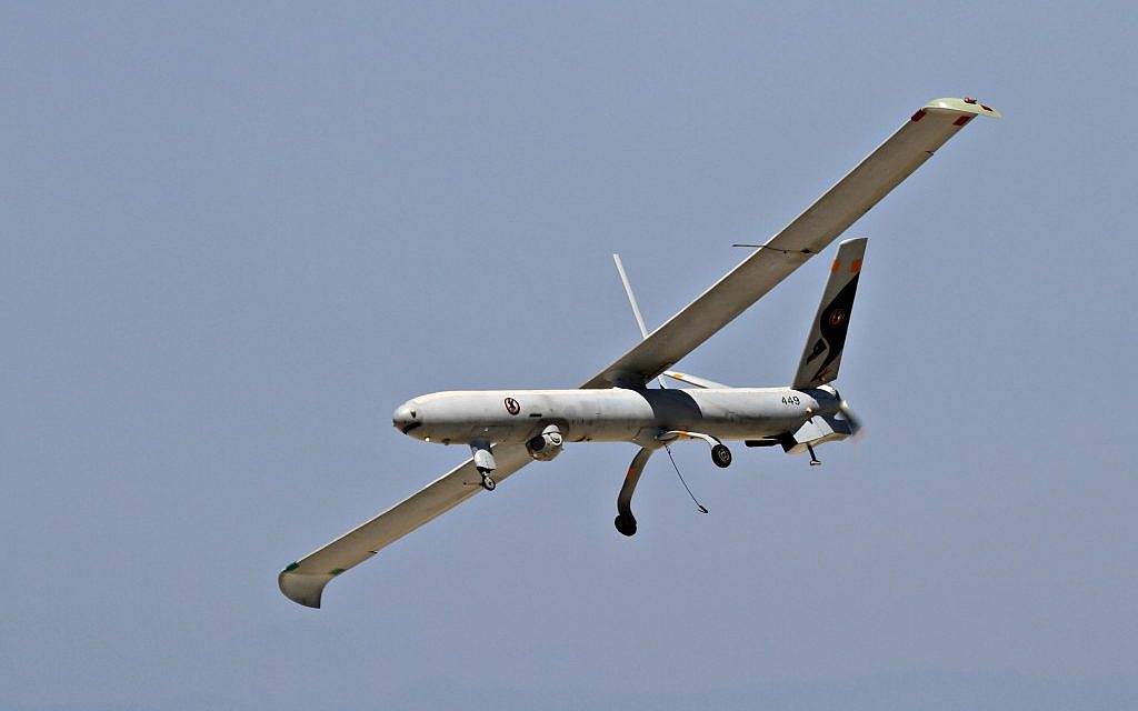 Israel airforce's Hermes, an unmanned aerial vehicle (UAV), June 28 2011 (photo credit: Ofer Zidon/Flash90)