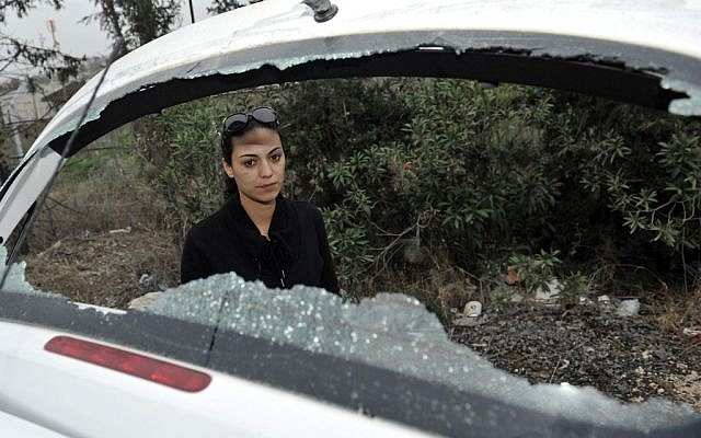 Natali Mashiach was the victim of a previous stoning attack in Beit Shemesh in January 2012. (photo credit: Yoav Ari Dudkevitch/Flash90)