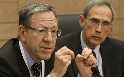 Irwin Cotler speaking to a Knesset Committee in March. (photo credit: Miriam Alster/Flash90)