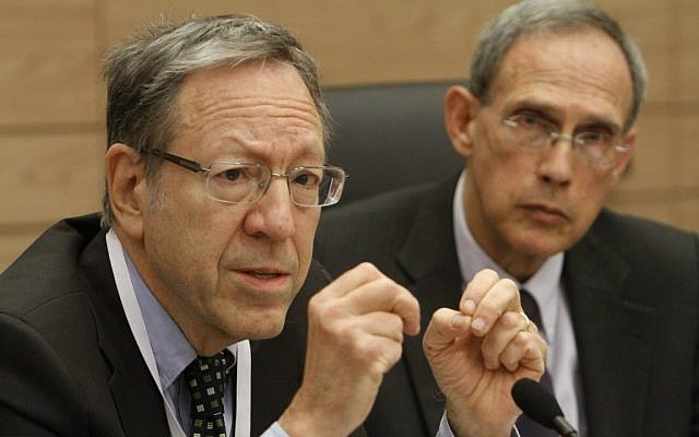 Former Canadian justice minister Irwin Cotler speaking to a Knesset committee in Jerusalem on March 2012. (Miriam Alster/Flash90)