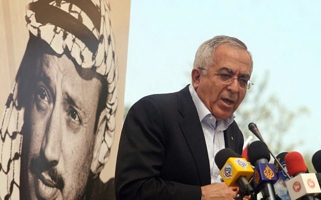 Former Palestinian prime minister Salam Fayyad (photo credit: Issam Rimawi/Flash90)