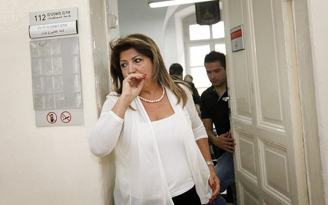 Shula Zaken in Jerusalem Magistrate's Court on May 2 (photo credit: Miriam Alster/Flash 90)