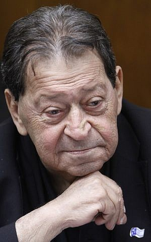 Former Israeli defense minister Binyamin Ben-Eliezer (photo credit:  Miriam Alster/FLASH90)