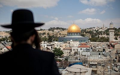 Looking out onto Jerusalem's Old City (photo credit: Noam Moskowitz/Flash90)