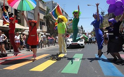 The 2012 Gay Pride Parade in Tel Aviv (photo credit: Roni Schutzer/Flash90)
