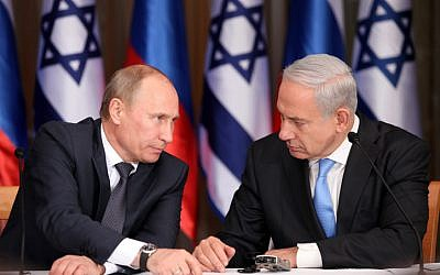 Prime Minister Benjamin Netanyahu holds a joint press conference with Russian President Vladimir Putin at Netanyahu's residence in Jerusalem on June 25, 2012. (photo credit: Marc Israel Sellem/POOL/FLASH90)