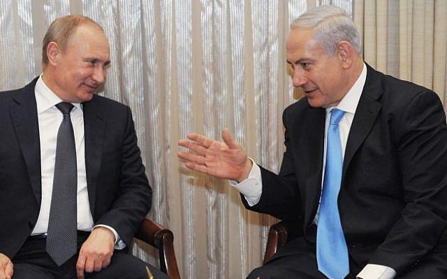 Prime Minister Benjamin Netanyahu meets with Russian President Vladimir Putin in Jerusalem on June 25, 2012. (photo credit: Amos Ben Gershom/GPO/FLASH90)
