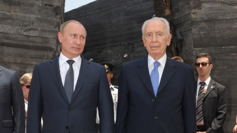 Russian president Vladimir Putin and President Shimon Peres. (photo credit: Avi Ohayon/GPO/FLASH90)