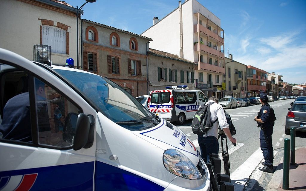 Illustrative: A police officer in the southern French city of Toulouse, June 2012. (Bruno Martin/AP)