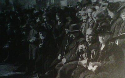 Detail from the 1946 'memorial' photograph