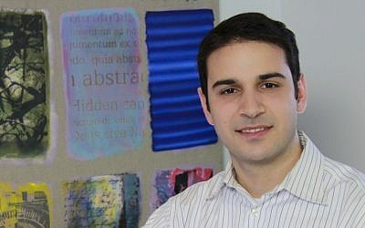Gregory Bilazarian of Mt. Laurel, New Jersey, left his job as a television news reporter to do Birthright Armenia and volunteer for a news website in the capital, Yerevan. (photo credit: Courtesy/JTA)