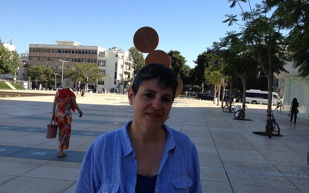 Tunisian filmmaker Nadia El Fani in Tel Aviv (photo credit: Elhanan Miller / Times of Israel)
