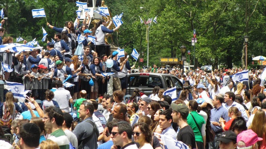 Thousands of Israel supporters came out Sunday for the annual Celebrate Israel Parade in New York City (photo credit: Howard Blas)