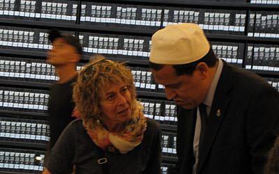 Chalghoumi at Yad Vashem (photo credit: Elhanan Miller / Times of Israel)