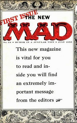 Cover of first Mad magazine. (photo credit: EC Publications; web source: http://www.coverbrowser.com/covers/mad)