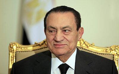 Former Egyptian president Hosni Mubarak (photo credit: AP/Amr Nabil)