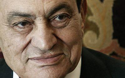 Former Egyptian president Hosni Mubarak. (photo credit: AP/Amr Nabil)