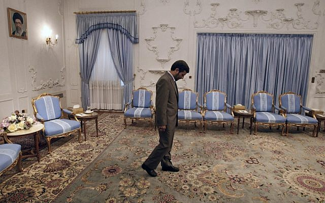Iranian President Mahmoud Ahmadinejad in 2009. (photo credit: AP/Vahid Salemi, File)