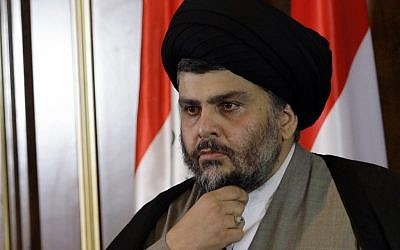 Shiite Iraqi leader Muqtada Sadr, a new opponent of Prime Minister Nuri Maliki (photo credit:  AP Photo/Khalid Mohammed)