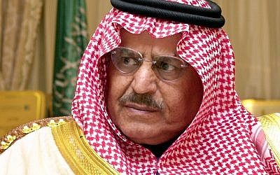 Deceased Saudi crown prince Nayef bin Abdul Aziz (photo credit: AP/Hasan Jamali)