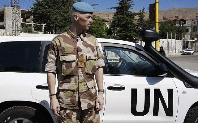 Norwegian Maj. Gen. Robert Mood, head of the UN observer team in Syria. (photo credit: AP/Muzaffar Salman)