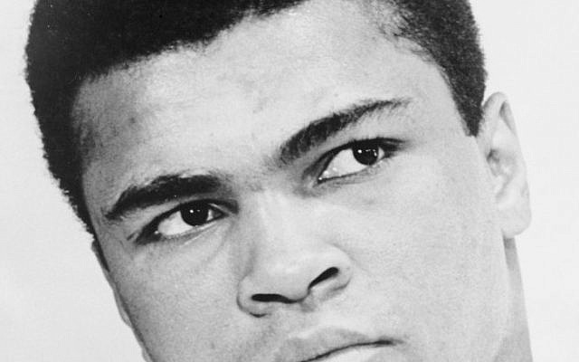 Bust portrait of Muhammad Ali, World Journal Tribune photo by Ira Rosenberg (CC BY-SA, United States Library of Congress, Wikimedia Commons)