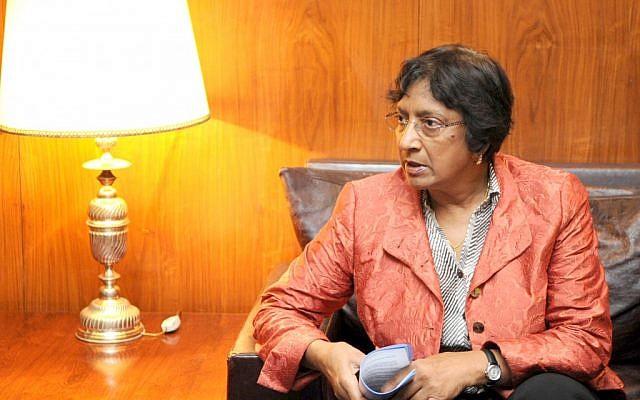 UN High Commissioner for Human Rights Navi Pillay (photo credit: CC-BY Antônio Cruz, Wikimedia Commons)