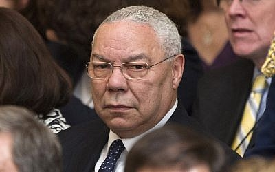 Colin Powell (photo credit: Pablo Martinez Monsivais/AP)