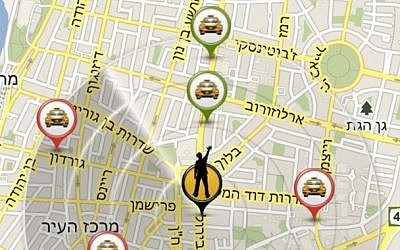 GetTaxi screen shot (Photo credit: Courtesy)