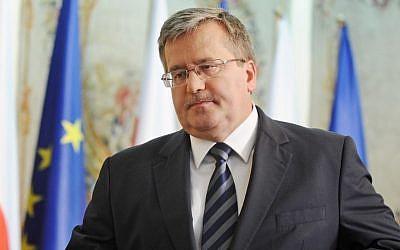 Polish President Bronislaw Komorowsk (photo credit: AP/Alik Keplicz)