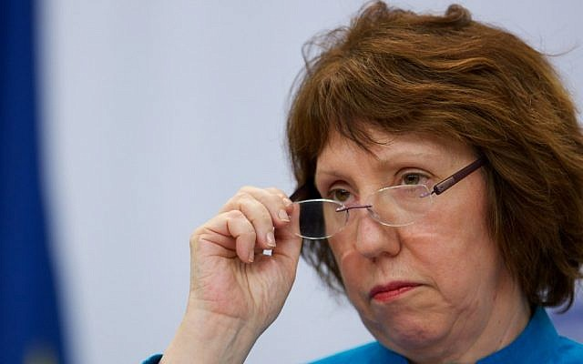 EU foreign policy chief Catherine Ashton (photo credit: AP/Alexander Zemlianichenko/File)