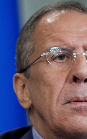 Russian Foreign Minister Sergey Lavrov (photo credit: AP/Alexander Zemlianichenko)