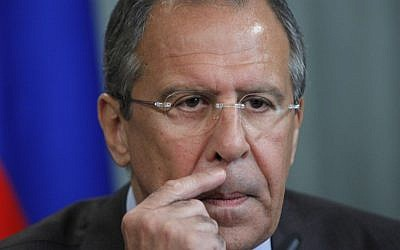 Russian Foreign Minister Sergey Lavrov (photo credit: AP/Alexander Zemlianichenko/File)