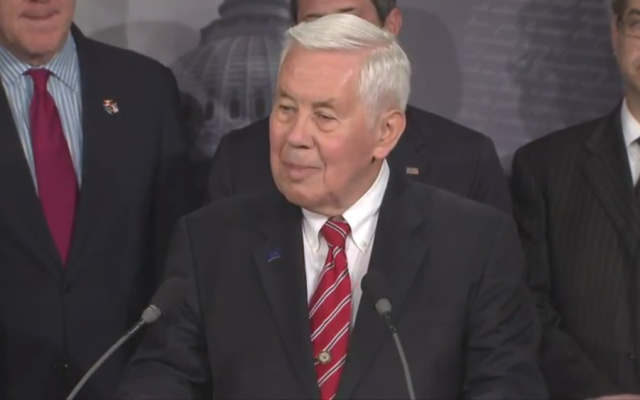 Image capture of Senator Richard Lugar (R-IN) from a YouTube video.
