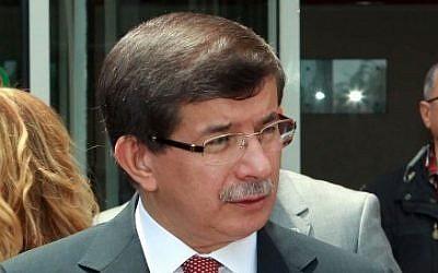 Turkey Foreign Minister Ahmet Davutoglu (photo credit: AP/Hakan Goktepe/Turkish Foreign Ministry)