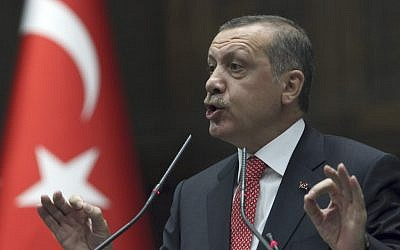 Turkish Prime Minister Recep Tayyip Erdogan (photo credit: AP Photo/Burhan Ozbilici)