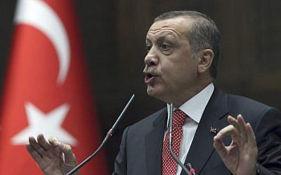 Turkish Prime Minister Recep Tayyip Erdogan (photo credit: AP Photo/Burhan Ozbilici)