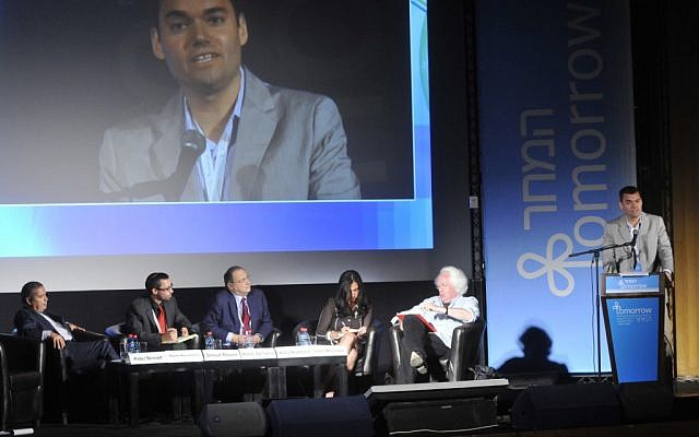 Peter Beinart speaks at the Israeli Presidential Conference in June. (Photo credit: Shilo Productions)