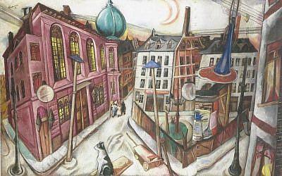 Die Synagoge in Frankfurt am Main, by Max Beckmann (Stadel Museum, Frankfurt)