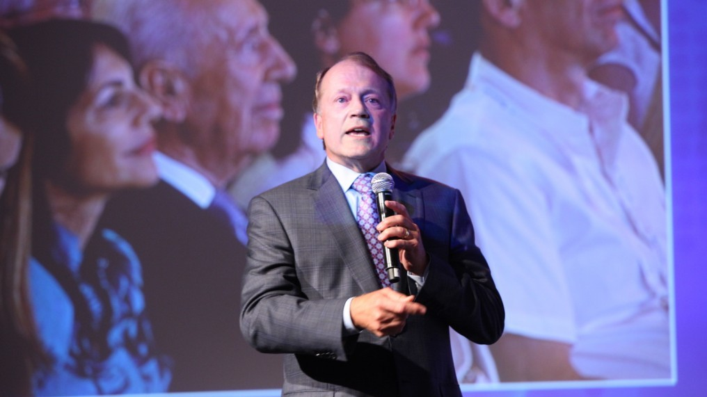 John Chambers speaks at the Presidential Conference (Photo credit: Courtesy)