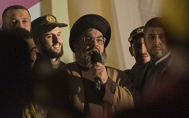 Lebanese leader Sheikh Hassan Nasrallah, July 2008 (photo credit: Ferran Queved/propaimages/Flash90)