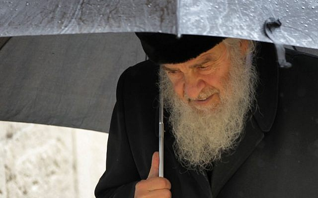 Illustrative photo of an Orthodox Jewish man sporting a traditional beard (photo credit: Nati Shohat/Flash90)