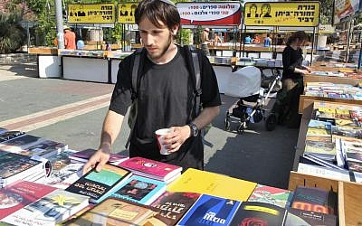 Books on sale for Book Week in Jerusalem in 2011. (photo credit: Nati Shohat/Flash90