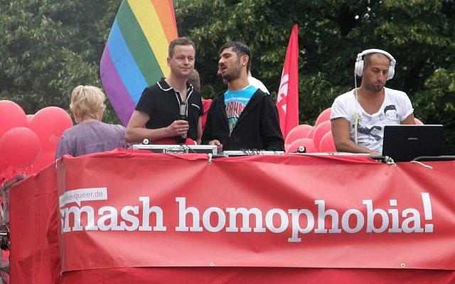 An outdoor gay pride party in Berlin. (Illustrative photo credit: easy-berlin, CC-BY-DN, flickr)