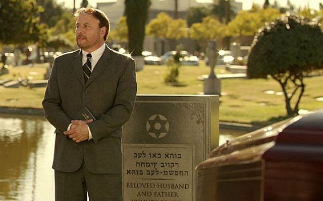 The pickled 'Episodes' headstone (photo credit: BBC/Showtime)