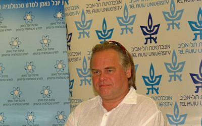 Eugene Kaspersky at the Tel Aviv conference. (Daniel Easterman)