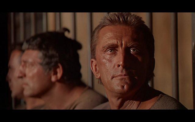 Kirk Douglas in the 1960 movie 'Spartacus.' (photo credit: public domain)