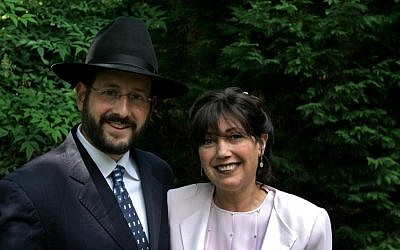 Rabbi Dov Lipman and his mother, Leah Lipman (photo credit: Courtesy Leah Lipman)