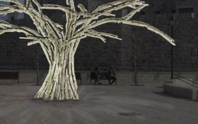 Yoav Homsky's Zinorot at the Davidson Center (Courtesy Jerusalem Festival of Light)
